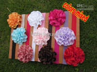 Blending baby handband - Baby Headband Elastic Headbands Satin Flowers Roosette Flowers Handband Colors Mixed