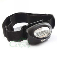 Wholesale 100Ppcs New Blac k Waterproof Gasket LED Headlamp Camping Hiking Head Light Lamp Torch
