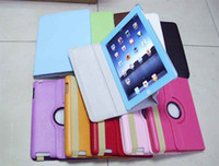 Wholesale 360 Degree Rotary Leather case for iPad rd G Gen The New Pad iPad3 tab Smart Cover