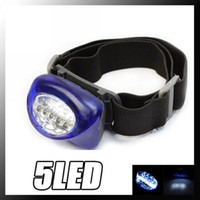 Wholesale New Blue Waterproof Gasket LED Headlamp Camping Hiking Head Light Lamp Torch