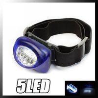 Wholesale 100Ppcs New blue Waterproof Gasket LED Headlamp Camping Hiking Head Light Lamp Torch