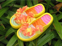 Wholesale Women Girls Vogue Thick Platform Garden Shoes Lovely Flower Flip Flops Slippers Health Beach Sandals