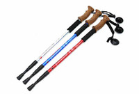 Cork 135 Aluminum Soft Wood Handle Telescopic Aluminum Alloy Alpenstock Cane Walking Sticks