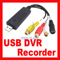 Wholesale Easycap USB CCTV DVD DVR Video Audio Capture Recorder adapter For Laptop PC