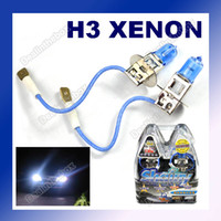 Wholesale 2 H3 Hid XENON Hyper WHITE HEADLIGHT Bulbs Car Light Lamp Foglight W V