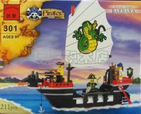 Wholesale Enlightenment blocks Barbara pirate ship child gift