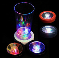 Wholesale Led Light Waterproof Color Changing Multiple colors blinking Flashing Drink Bottle Cup Mat