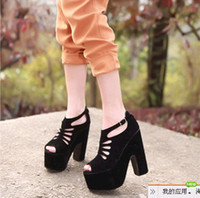 Wholesale 2012 newest sexy women s lady s Sandals European American fashion section magazine wedges shoes