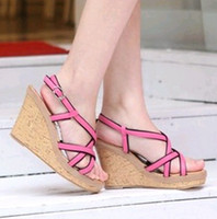 Wholesale 2012 newest sexy women s lady s Large size Sandals European American fashion wedges roman shoes