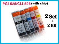 Wholesale 12 ink cartridge with chip for Canon IP4800 IX6550 MG6250 MG8220 MG5150 PGI BK CLI