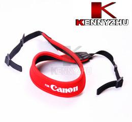 Camera Neoprene Neck Red Shoulder Strap Belt For Canon DSLR Soft Padding High Quality