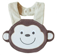 Wholesale monkey babys bibs layers Waterproof Bibs Cotton Animal cartoon Bibs Towel bibs