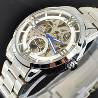 Wholesale 1pcs classic silver band watch alloy metal Mechanical watch mens watch luxury watches