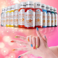 Nail Art 3D Decoration airbrush acrylic paints - Assorted Colors ML Acrylic Airbrush Paint Ink For Nail Art Drawing NA443