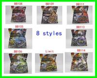 Wholesale 8pcs hot sale Styles Metal D Beyblades BB105 BB106 BB108 BB109 BB111 BB113 BB114