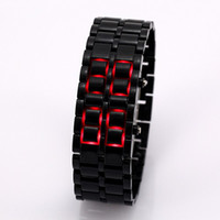 Wholesale Led Watch Lava Style Iron Samurai Watch Colorful Plastic Band Wristwatch Men Lady Unisex Watches