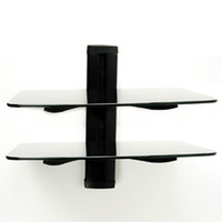 Wholesale Homemounts HM002W Black Floating Glass DVD Stand with mm Aluminum Wall Plate