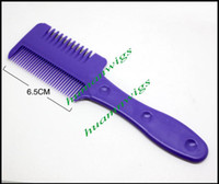 Wholesale 100pcs mix color Tinkle Hair Cutter Razor Comb Hair Trimmer Razor Hair Comb