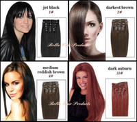clip in hair extension sets - Clip In On Hair Extensions Brazilian Remy Human Hair g set quot Straight In Stock