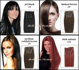 Wholesale Clip In Brazilian Human Hair Extensions g set quot Straight In Stock
