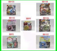 Wholesale 8pcs hot sale Styles Metal D Beyblades BB95 BB99 BB100 BB102 BB105 BB106 BB108 Beyblade GG
