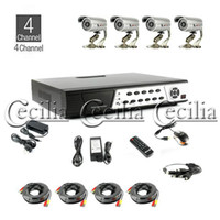 Wholesale CCTV DVR Kit CH All in one WIRE M Outdoor Waterproof Camera Silver Colour GB HDD sale