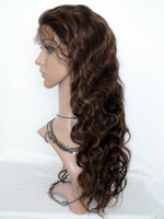 Wholesale Stock Human Hair Lace Front Wig quot quot quot quot quot Bady Wave Brown Indian Remy Hair Wigs
