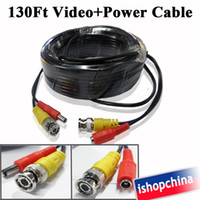 Wholesale 1 x FT M Black Digital DVR CCTV Security Surveillance Camera Video Power Cable w BNC Connector