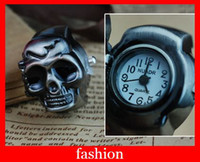 Wholesale fashion Antique ring Watch black Skull and crossbones Watches woman gifts piece