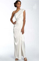 adrianna papell gowns - Adrianna Papell One Shoulder Twist Charmeuse Gown Mother of the Bride Dresses