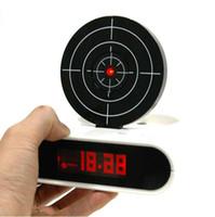 Wholesale Unique LCD Laser Gun Target Shooting Alarm desk Clock Set