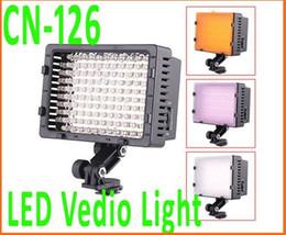 CN-126 LED VideoCamera Lumière Ampoule d'éclairage photo pour Caméscope DV Camera éclairage 5400K, Reati à partir de conduit caméra lumière 126 fournisseurs