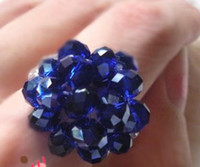 Women's Gift mix size random 50pcs lot GOOD Mix color handmade 6mm crystal czech glass seed bead beads Sky full star ring rings
