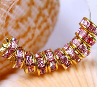 basketball wives beads for sale - Hot sale Crystal Spacer Crystal Rhinestone Beads Suitable for basketball wife earrings