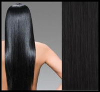Wholesale 100 Indian Remy Human Hair Straight Clip In Extensions Inch Jet Black Remy Human Hair Weaves Weft DHL