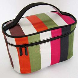 Wholesale Cosmetic Bag Makeup Bag Storage Bags Strip pattern