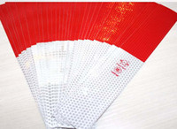 Personalized Sticker adhesive vinyl material - 150PCS CONSPICUITY Reflective Adhesive Hazard Warning Tape Red White cm