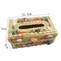 Wholesale Shell conch pastoral style home Creative tissue boxes cute napkins pumping of the storage box