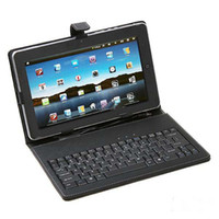Wholesale 10 Inch Keyboard Leather Case with Bracket Stylus for EPAD Apad Flytouch SuperPad Tablet PC