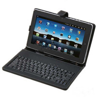 Wholesale USD keyboard leather case Black with bracket for inch tablet netbook pc inch apad