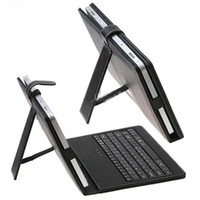 Wholesale hot USD keyboard leather case Black with bracket for inch tablet netbook pc inch apad