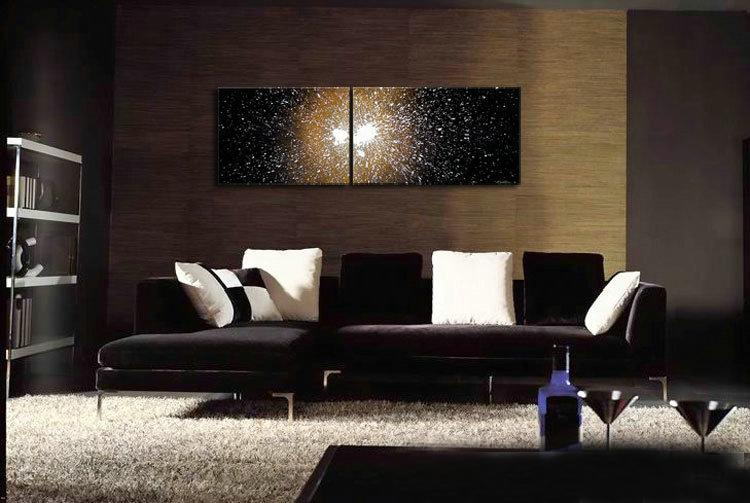 Outer space contemporary abstract oil painting on canvas for Outer painting design