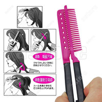 Wholesale 10 DIY Hairdressing Hair Straightener Straighten V Comb