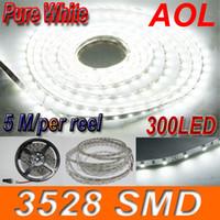 Светодиодные полосы света водонепроницаемый 3528 SMD белый светодиод гибкие светодиодные полосы 300LED блок питания не 50м