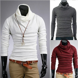 Wholesale 2012 HOT monde New Korea Men s Casual Slim Fitt T shirt Shirts Tee Tops size M L XL XXL WHITE