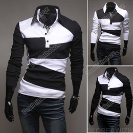 Wholesale 2012 Spring Clothing New Mens Casual Stylish Slim Fit Shirts T shirts Tee Coat Long Sleeve