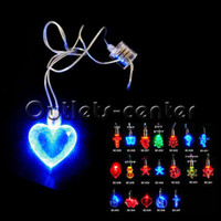 Wholesale Led Pendant Necklace Fashion Flash Light and Magnetic Necklaces CG105111
