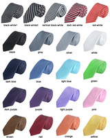 Wholesale 10 New Mens Strip Skinny Tie Necktie Polyester and silk