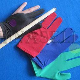 Snooker billard billard cue gants haute élasticité billard trois doigts gants 8 balles 9balls gants
