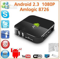 Wholesale Google Android TV Box ARM Cortex A9 WiFi HD P HDMI player Amlogic hot selling